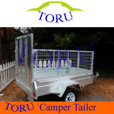 Austrailia Farm Galvanized Tandem Utility Box Welded Tipping Cage Trailer