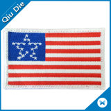 Overhand Woven USA Flag Label Hand Embroidery Hat Patches
