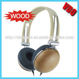 High Quality Environmental Friendly Solid Wood Headphone (VB-9202D-W)