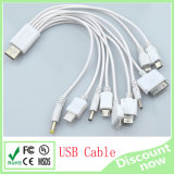 10 in 1 USB Cable White