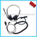 2.5mm Jack Call Center Headset Headphone with Mic