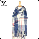 Hot Selling Cheap Tartan Plaid Knitting Blanket Cross Stripe Scarf