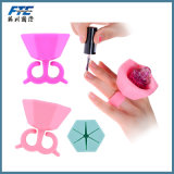 Hot Sale Portable Wearable Silicone Nail Bottles Holder
