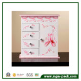 Girl′s Ballerina Musical with Door Jewelry Box