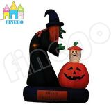 6′ Halloween Inflatable Animated Witch with Pumpkin