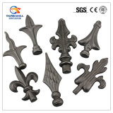 Wrought Iron Fence Parts Spear Point Head Flowers and Leaves