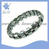 2013 Gus-Hb-005 Fashion Magnetic Original Hematite Jewelry Bracelet with Double Row as Bread Beads in Black Color for Mothers