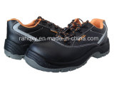 Smooth Leather Upper and Reflect Part Safety Shoes (HQ05020-1)