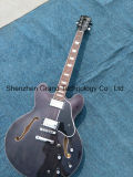 Es335 Semi-Hollow Electric Jazz Guitar with White Block Inlay (TJ-255)