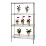 Chrome Adjustable Greenhouse Wire Storage Racking for Flower