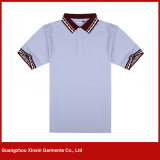 Wholesale Short Sleeve Color Combination Collar Custom Design Womens Golf Polo Shirts (P168)