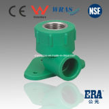 PPR DIN Standard Female Thread Elbow Wall Plate