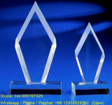 Wholesale Customized Acrylic Crystal Trophy Blank with Base