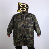 Polyester Camouflage Long Coat