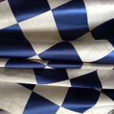 Yuhua Big Grid Blue White Yard Dyed Blackout Curtain Fabric