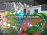 Colorful 1.0mm PVC/TPU Inflatable Water Walking Ball, Inflatable Zorb Ball for Kids Playing