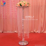 Luxury Table Center Decorative Crystal Metal Candelabra Wedding Centerpieces (HLY-CP015)