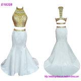Elegant Beading Mermaid Long Evening Dress 2017 Cheap Prom Dresses Party Dress