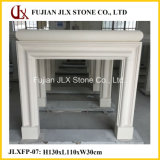 Beige Marble Stone Fireplace for Indoor Decoration