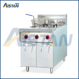 Df26-3 Free Standing Stainless Steel Electric 3-Tank Fryer