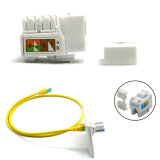 Gold Plated Network 8p8c UTP Shielded CAT6 Keystone Jack Meet Tia/Eia Tsb-40