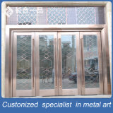 High Quality Main Entrance Front Metal and Tempered Glasses Door