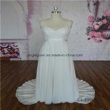V Neck Empire Beach Causal Chiffon Bridal Gown