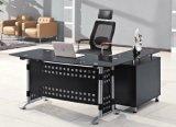 Glass Top Executive Office Desk Metal Office Furniture (HX-GL016)