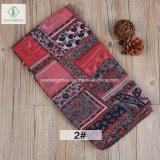 2017 New Fashion Lady Moslem Scarf with Square Cashew Printed