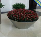 304 Stainless Steel Garden Round Flower Pot for Large Size