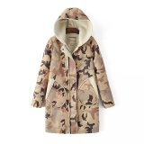 High Quality Plus Size Fashion Camouflage Women Winter Coat