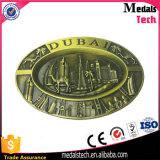 3D Metal Reised Dubai Building Shape Antique Bronze Metal Belt Buckle