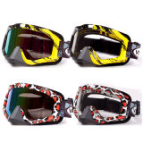 Colored Lens Motocross Goggle/Sports Goggle/Protective Goggle (AG007)