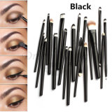 20PCS Eyeliner Cosmetic Tools Eyeliner Brushes with OPP Bag