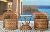 Wicker Outdoor Furniture Rattan Chair and Rattan Table