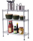 Adjustable DIY 3 Tiers Chrome Steel Mini Kitchen Rack