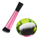 Custom Pink Angled Sculpting Face Cosmetic Make up Brush Kabuki