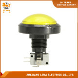 IP40 Protection Level Round Yellow Push Button Switch Pbs-006