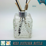 200ml Water Cube Glass Reed Duffuser Bottle with Matte Silver Cap
