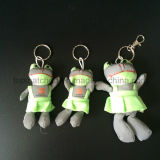 Soft Stuffed Plush Reflective Frog Toy for Bag Hanger