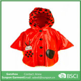 PU Fabric Lovely Kids Raincoat