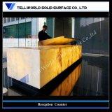 Trunslucent Contemporary Design Artificial Marble Reception Counter (TW-219)