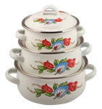 3PCS Set Mini Enamle Casserole Set