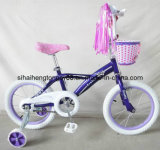 Girl Purple Beautiful Bicycle with Front Small Basket (SH-KB300)