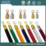 Crowd Control Barrier Velvet Rope with Chrome Hooks