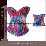 Fashion Women Wholesale Denim Flower Print Corset (TW2879)