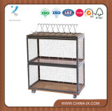 Double Wire Kit Two Tier with Castors and Wine Rack
