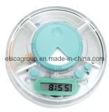 Round Shape 24 Hours Pill Box Timer (EP005)