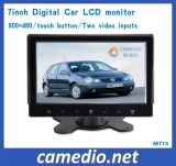 2 AV Input 7inch Stand Alone Car TFT LCD Monitor with Touch Key &Digital Screen 800*480