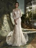 Long Sleeve Lace Mermaid Bridal Dress Wedding Gown